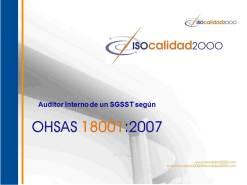 Auditoría, auditoria, OHSAS, ISO, ISO 9001, ISO 14001