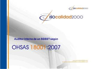 Portada Auditor OHSAS 18001