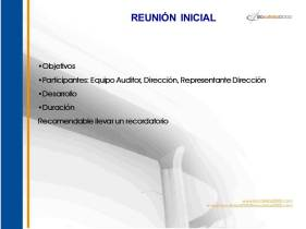 Reunión inicial, Auditoría ISO, auditoria ISO, ISO 9001, ISO 14001, OHSAS 18001, ISO